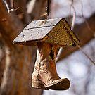 Redneck Cowboy Boot Birdhouse  by Bo Insogna