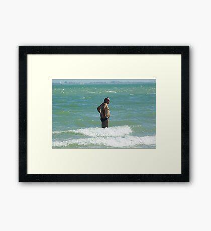 Speedo Man Framed Print