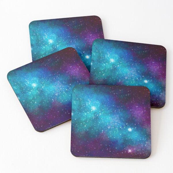Cyan Galaxy Coasters (Set of 4)
