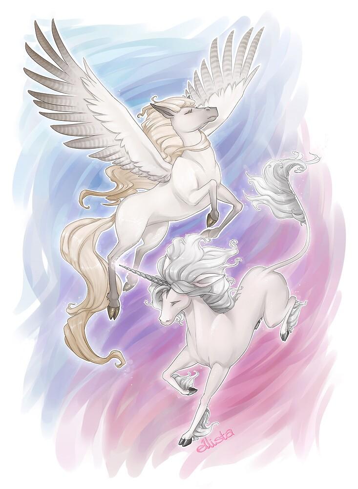 Unicorn and Pegasus by kinky-chichi