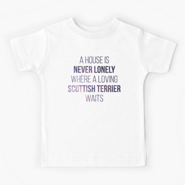 Scottish Terrier Dog Cute Quote Kids T-Shirt