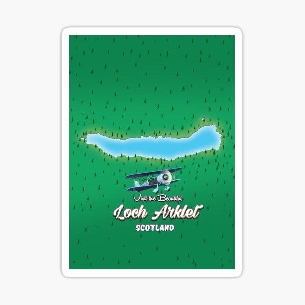 loch arklet map Scotland Sticker