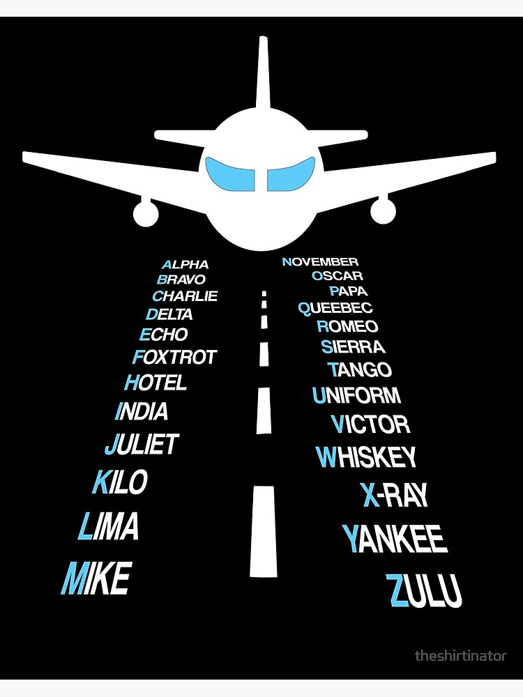 Phonetic Alphabet Pilot Cadet Airplane Gift Art Board Print By Theshirtinator Redbubble
