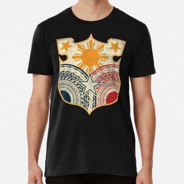 Vintage Stammes-philippinische Flagge Premium T-Shirt