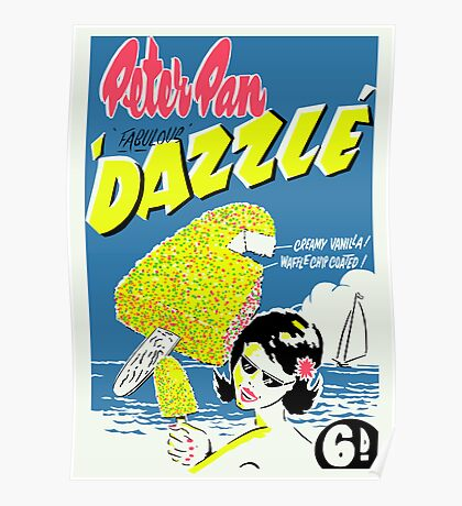 Peter Pan Dazzle Icecream Poster