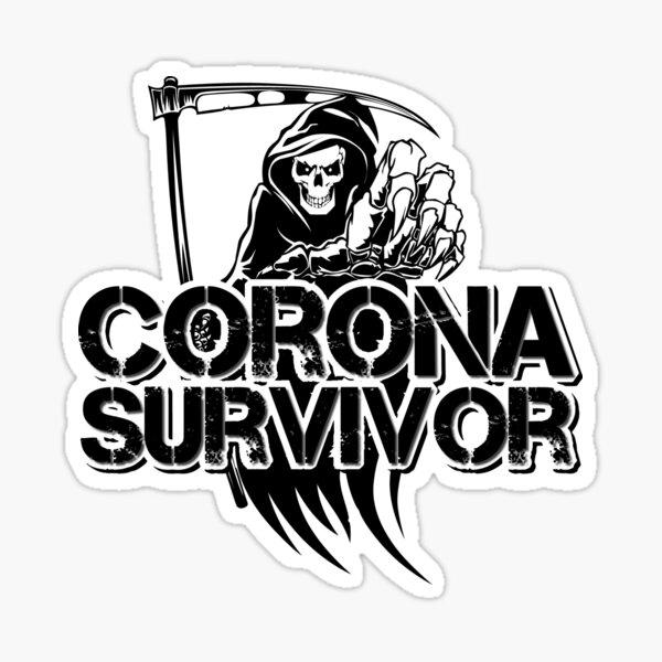 Corona survivor Sticker