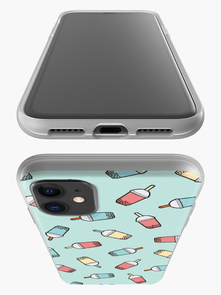 Alternate view of Bubble Tea Pattern in Mint  iPhone Case & Cover