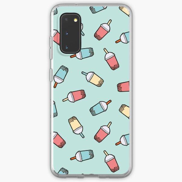 Bubble Tea Pattern in Mint  Samsung Galaxy Soft Case