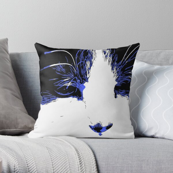 OZZY IN BLUE Throw Pillow