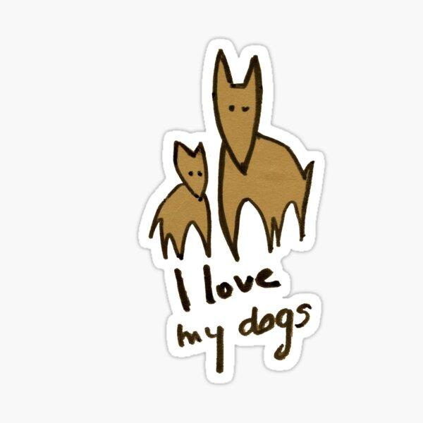 I love my dogs - Amo a mis perros Pegatina