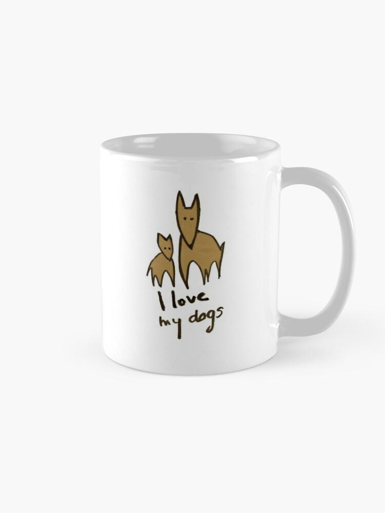 Vista alternativa de Taza I love my dogs - Amo a mis perros