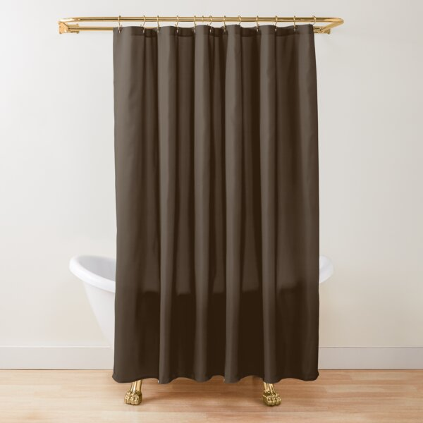Umber Brown Solid Color Shower Curtain