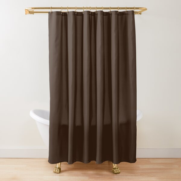 Hickory Brown Solid Color Shower Curtain