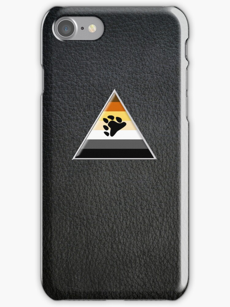 Bear Triangle on Black Leather by x-pressions