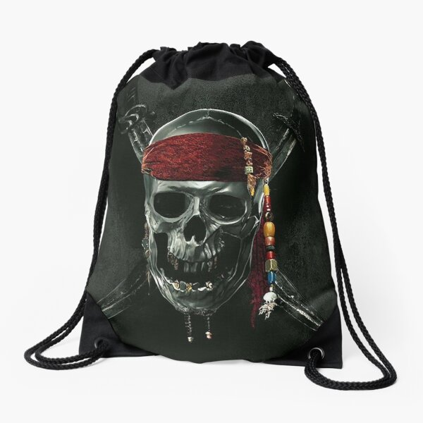 Pirates of the caribbean Drawstring Bag