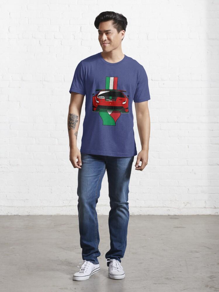 Alternate view of 2020 488GT3 Evo Rinaldi Racing Essential T-Shirt