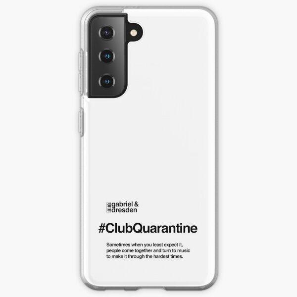 Gabriel & Dresden #ClubQuarantine Black Logo Samsung Galaxy Soft Case