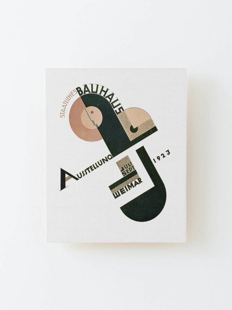 Alternate view of Bauhaus Logo on 1923 Weimar Advertisement Mounted Print
