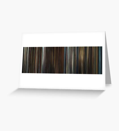 Moviebarcode: In Bruges (2008) Greeting Card