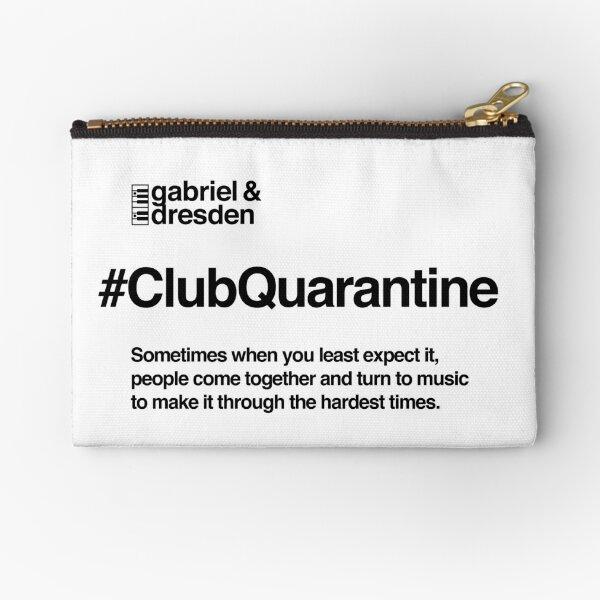 Gabriel & Dresden #ClubQuarantine Black Logo Zipper Pouch
