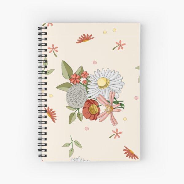 Flowery pattern Spiral Notebook