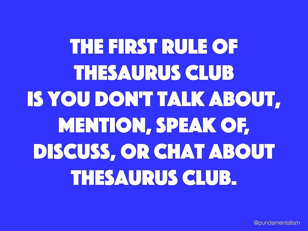 Thesaurus Club. by Pundamentalism