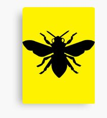 Bee Silhouette Canvas Print