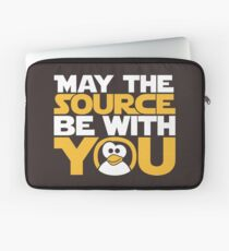 May The Source Be With You - Tux Edition Laptop Sleeve