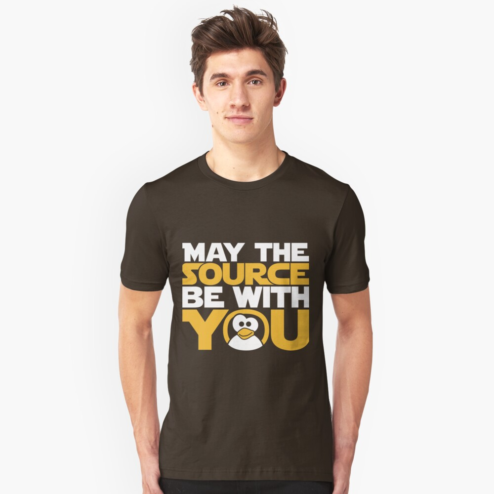 May The Source Be With You - Tux Edition Unisex T-Shirt Front