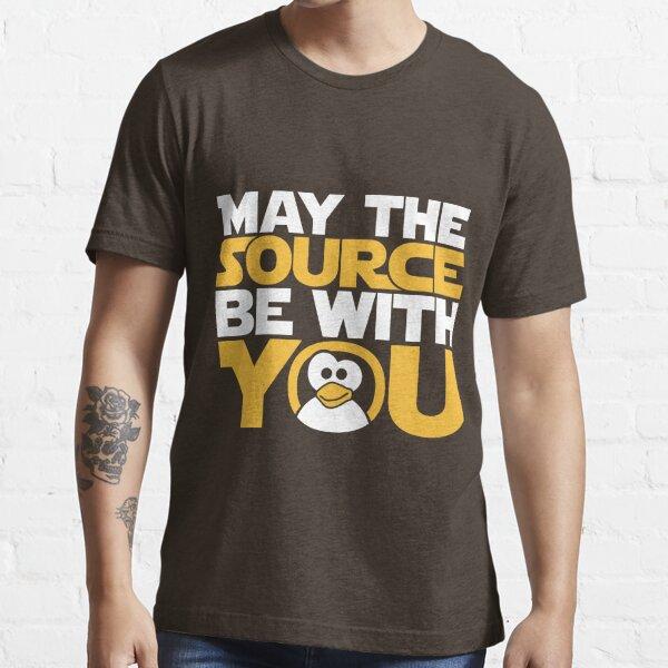 Que la fuente te acompañe - Edición Tux Camiseta esencial
