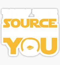 May The Source Be With You - Tux Edition Sticker