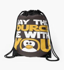 May The Source Be With You - Tux Edition Drawstring Bag