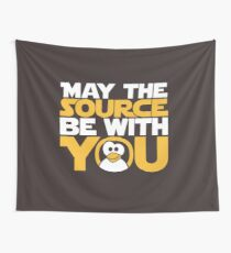 May The Source Be With You - Tux Edition Wall Tapestry