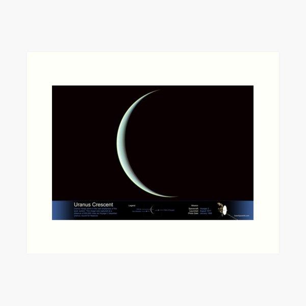 Uranus Crescent - with Annotated Legend Art Print