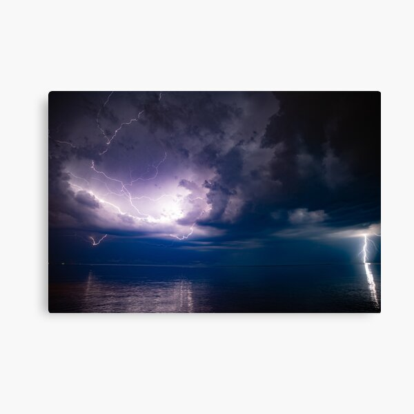 Lightning Over Erie  Canvas Print