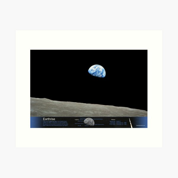 Earthrise - with Annotated Legend Art Print