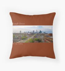 View of Cleveland from the Tyler Building Throw Pillow