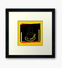 Coffee Cup - I love coffee (Tea) Framed Print
