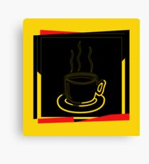 Coffee Cup - I love coffee (Tea) Canvas Print