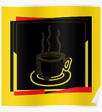 Coffee Cup - I love coffee (Tea) Poster