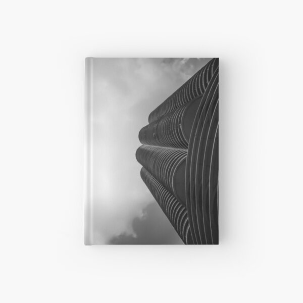 Chicago Skyscrapers - Marina City in Monochrome Hardcover Journal