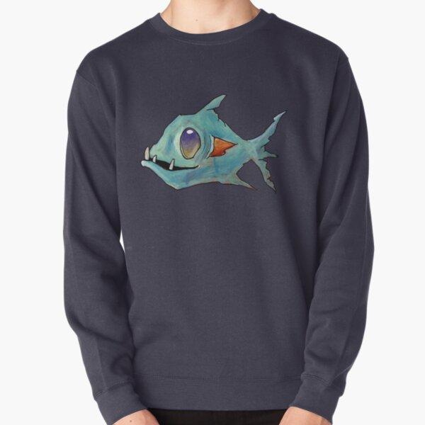 Blue Zombie Fish Pullover Sweatshirt