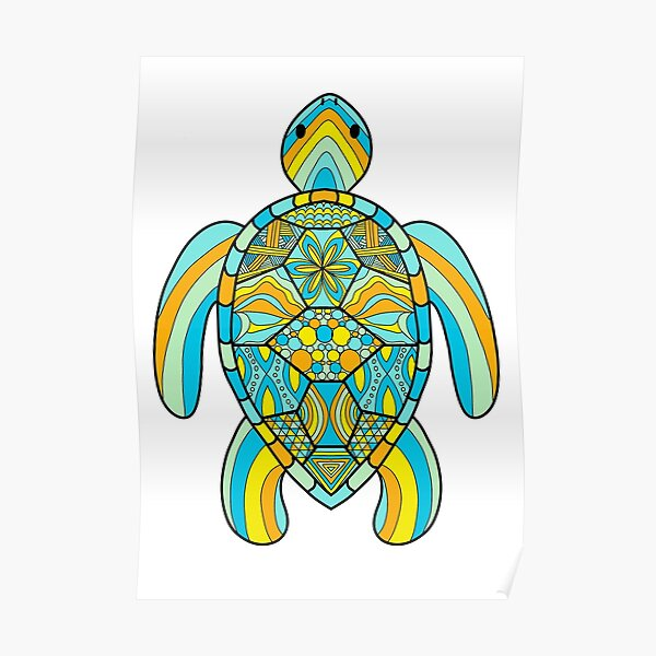 Trippy Turtle Posters | Redbubble