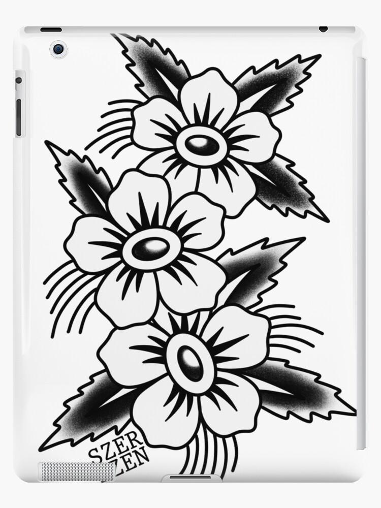 Traditional Flower Tattoo Ipad Case Skin By Jennaszetattoos Redbubble