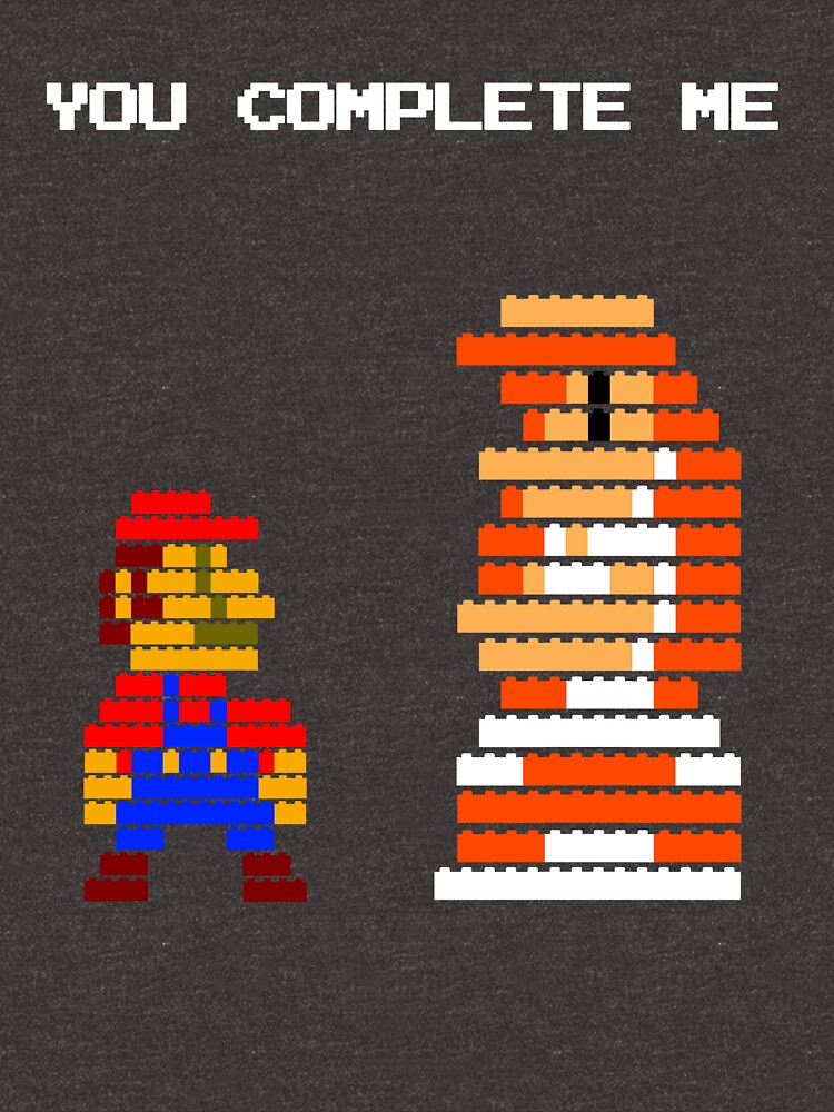 You complete me 8-bit mario von McLovely