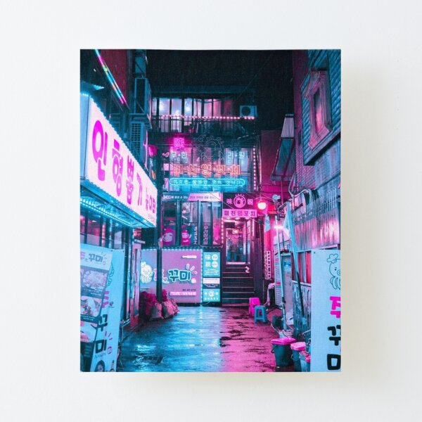 Korean Cyber Punk Landscape Canvas Mounted Print