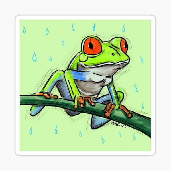 Tree Frog digital art  Sticker