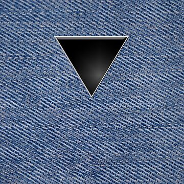 Black Triangle on Denim by x-pressions