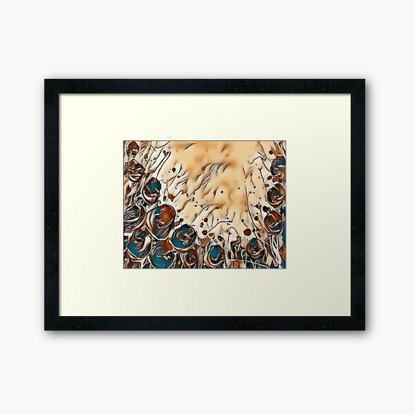 Poppy Garden 2 designed & created by (c) Janet Watson Art   Framed Art Print