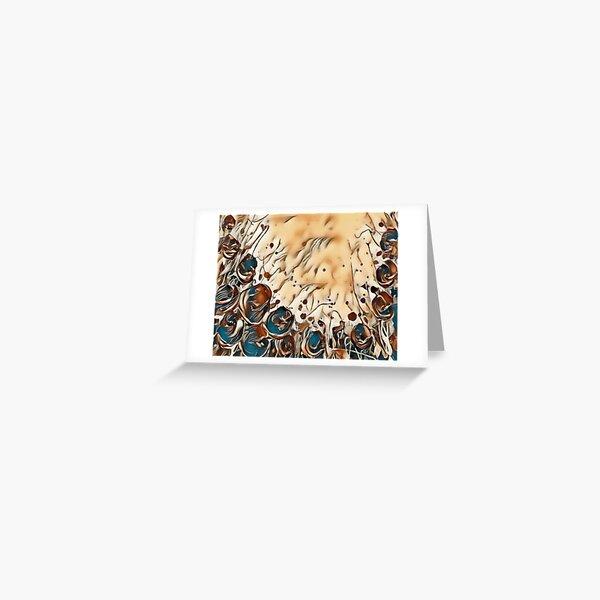 Poppy Garden 2 designed & created by (c) Janet Watson Art   Greeting Card